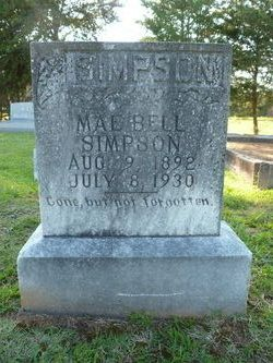 Mae Bell Simpson