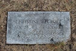 Christine <i>Petersen</i> Recroft