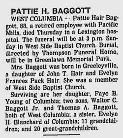 Pattie <i>Hair</i> Baggott