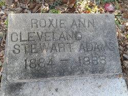 Roxie Ann Cleveland <i>Stewart</i> Adams