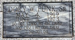 Dorrance Wilhelm(Dory) Funk, Sr