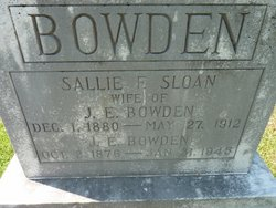 Sallie F. <i>Sloan</i> Bowden