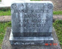 Fannie <i>Maddox</i> Barnes