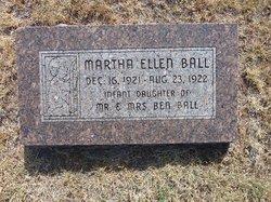 Martha Ellen Ball