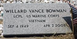 Willard Vance Bowman