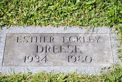 Esther Louise <i>Eckley</i> Dreese
