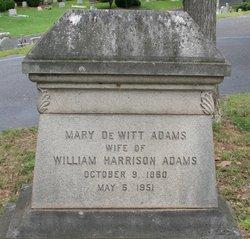 Mary <i>De Witt</i> Adams