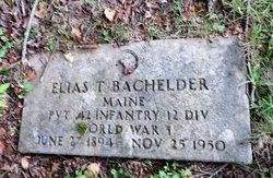 Elias T Bachelder