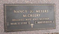 Nancy Jo <i>Meyers</i> McCreery