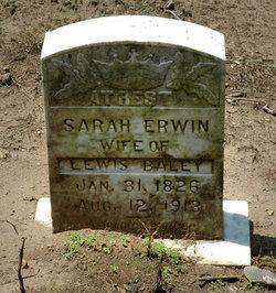 Sarah <i>Erwin</i> Baley