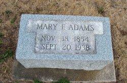 Mary Frances <i>Wilder</i> Adams