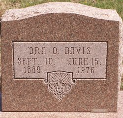 Ora O <i>Shanks</i> Davis