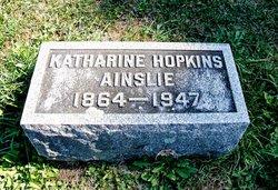 Katharine L. Kate <i>Hopkins</i> Ainslie