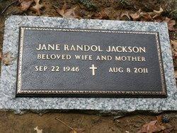Jane <i>Randol</i> Jackson