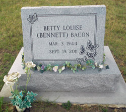 Betty Louise <i>Bennett</i> Bacon