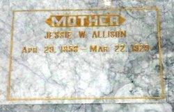 Jessie W <i>Whitney</i> Allison
