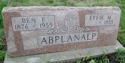 Effa May Effie <i>Martin</i> Abplanalp