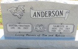 Bertha <i>Troutman</i> Anderson