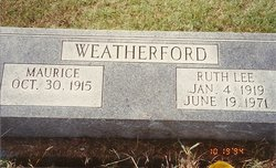 Ruth Lee <i>Eberhardt</i> Weatherford