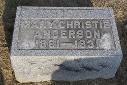 Mary Livingston <i>Christie</i> Anderson