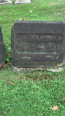 Anna M Shaw