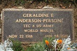 Geraldine E. Gerry <i>Burrows</i> Anderson Person