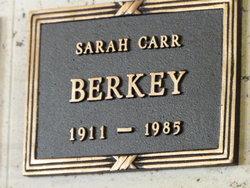 Sarah <i>Carr</i> Berkey