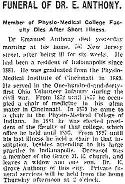 Dr Emanuel Anthony