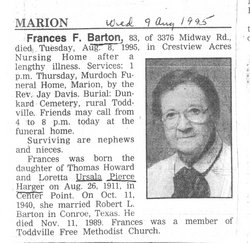 Frances Fern <i>Harger</i> Barton
