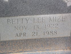 Betty Lee <i>Mize</i> Conner