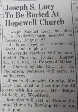 Joseph Samuel Lucy
