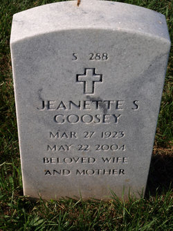 Jeanette S Goosey