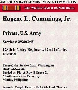 Pvt Eugene LeRoy Gene Cummings, Jr