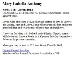 Mary Isabella <i>Busby</i> Anthony