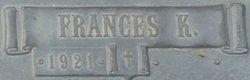 Frances K <i>Tholen</i> Neff