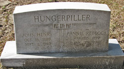 Frances Rebecca Fannie <i>Troutman</i> Hungerpiller