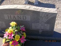 Susie Ann <i>Gibbs</i> Hand