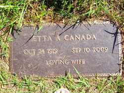 Etta A <i>Winder</i> Canada