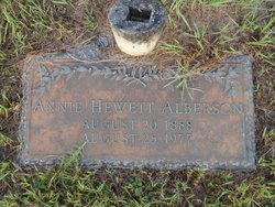 Annie Lou <i>Hewett</i> Alberson