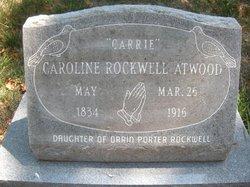 Caroline Carrie <i>Rockwell</i> Atwood