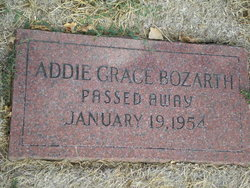 Addie Grace <i>Hill</i> Bozarth