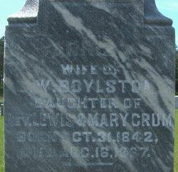 Frances R. Fannie <i>Crum</i> Boylston