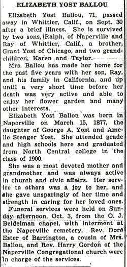Elizabeth M. <i>Yost</i> Ballou