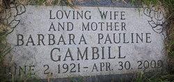 Barbara Pauline Bobbie <i>Oryall</i> Gambill