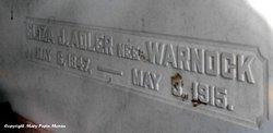 Eliza J <i>Warnock</i> Adler
