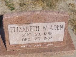 Elizabeth W Aden