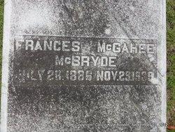 Frances <i>McGahee</i> McBryde