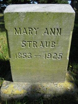 Mary Ann <i>Waterworth</i> Straub
