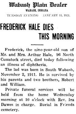 Frederick S Hale