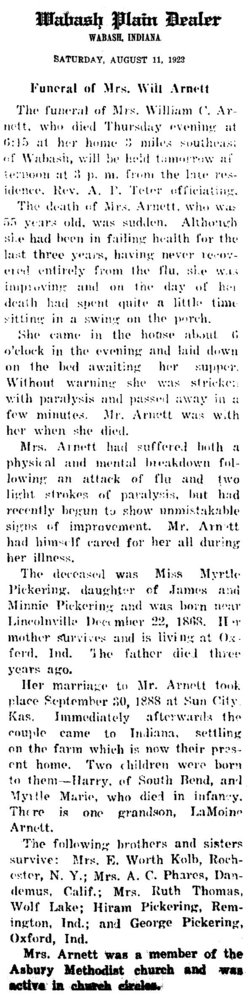 Myrtle <i>Pickering</i> Arnett